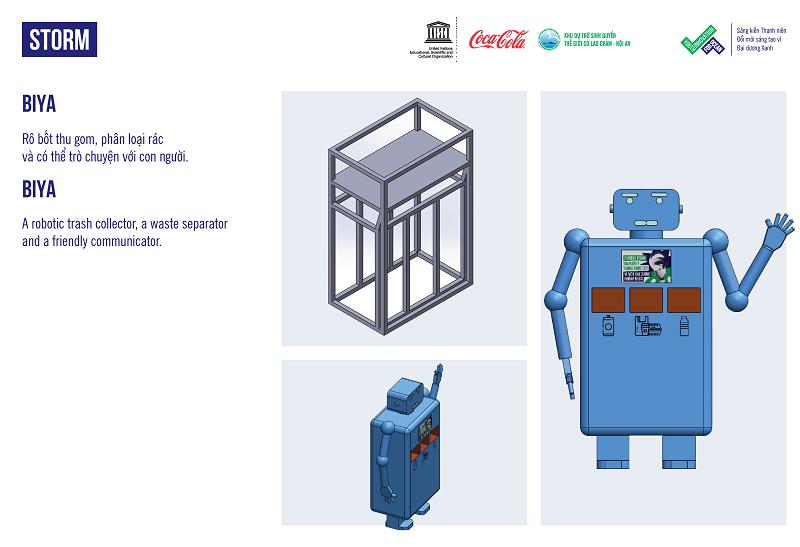 Đại sứ môi trường Robot Biya có khả năng trò chuyện với con người   Nguồn: UNESCO