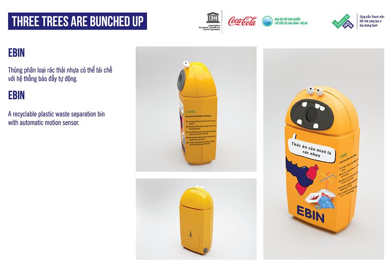 Thùng rác nhựa với hệ thống báo đầy tự động   Nguồn: UNESCO