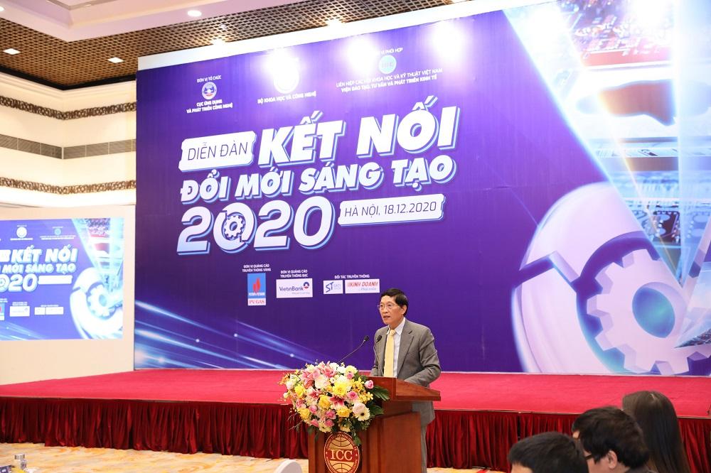 """Thứ trưởng Bộ KH&CN Trần Văn Tùng tại """"Diễn đàn đổi mới sáng tạo 2020""""   Ảnh: BTC"""