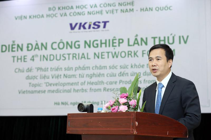 Thứ trưởng Bộ KH&CN Bùi Thế Duy phát biểu tại sự kiện. Ảnh: Anh Tuấn.