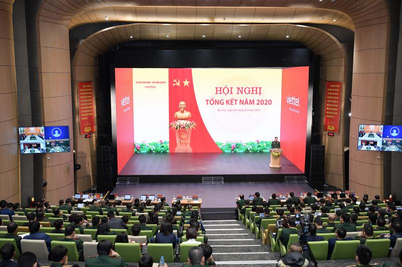 Hội nghị tổng kết năm 2020 của Viettel. Ảnh: Viettel