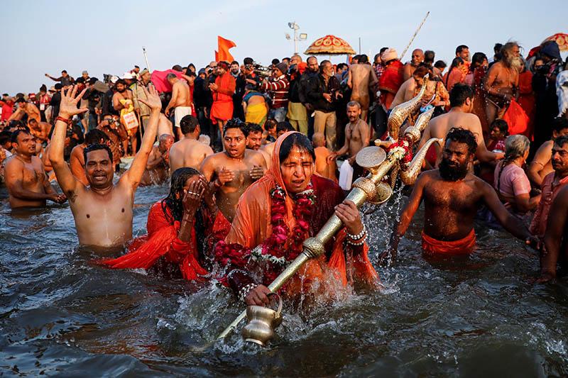 Kumbha Mela, một sự kiện hành hương chính và lễ hội lớn trong Ấn Độ giáo. Ảnh: Diana Bagnoli.