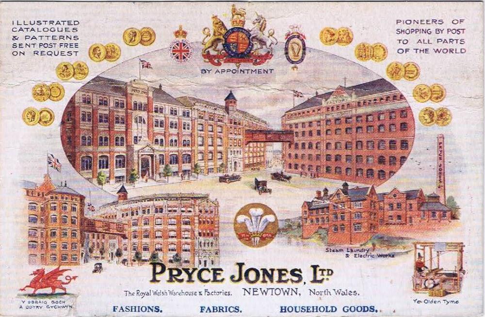 Một tấm postcard quảng cáo dịch vụ đặt hàng qua thư tín của Pryce Jones. Ảnh: Northumberland Archives.
