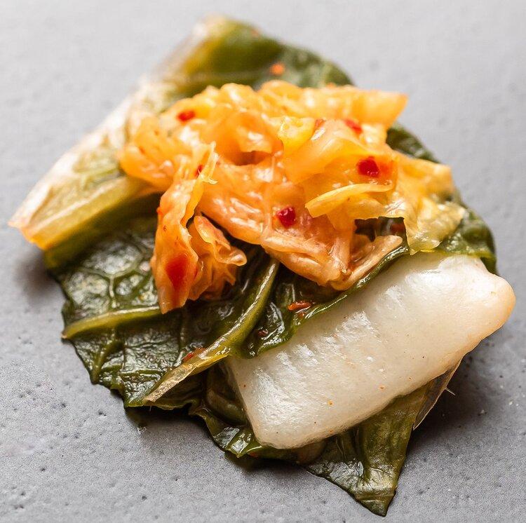 Kimchi làm từ cá cam của BlueNalu. Ảnh: BlueNalu.