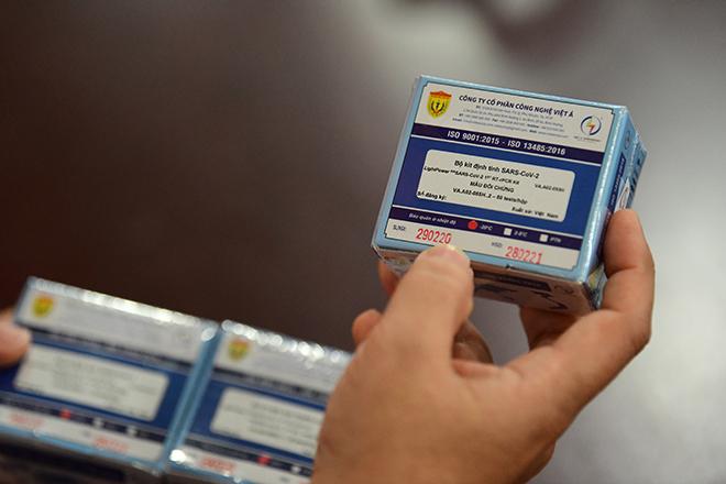 Bộ kit test thử nghiệm virus Covid-19 là sản phẩm của đề tài do Bộ KH&CN tài trợ.