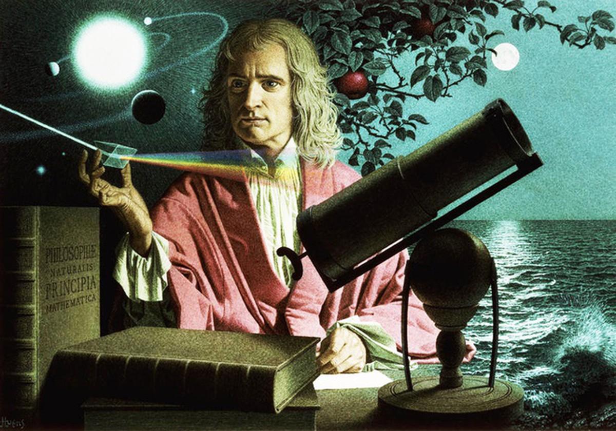 Nhà bác học Isaac Newton.