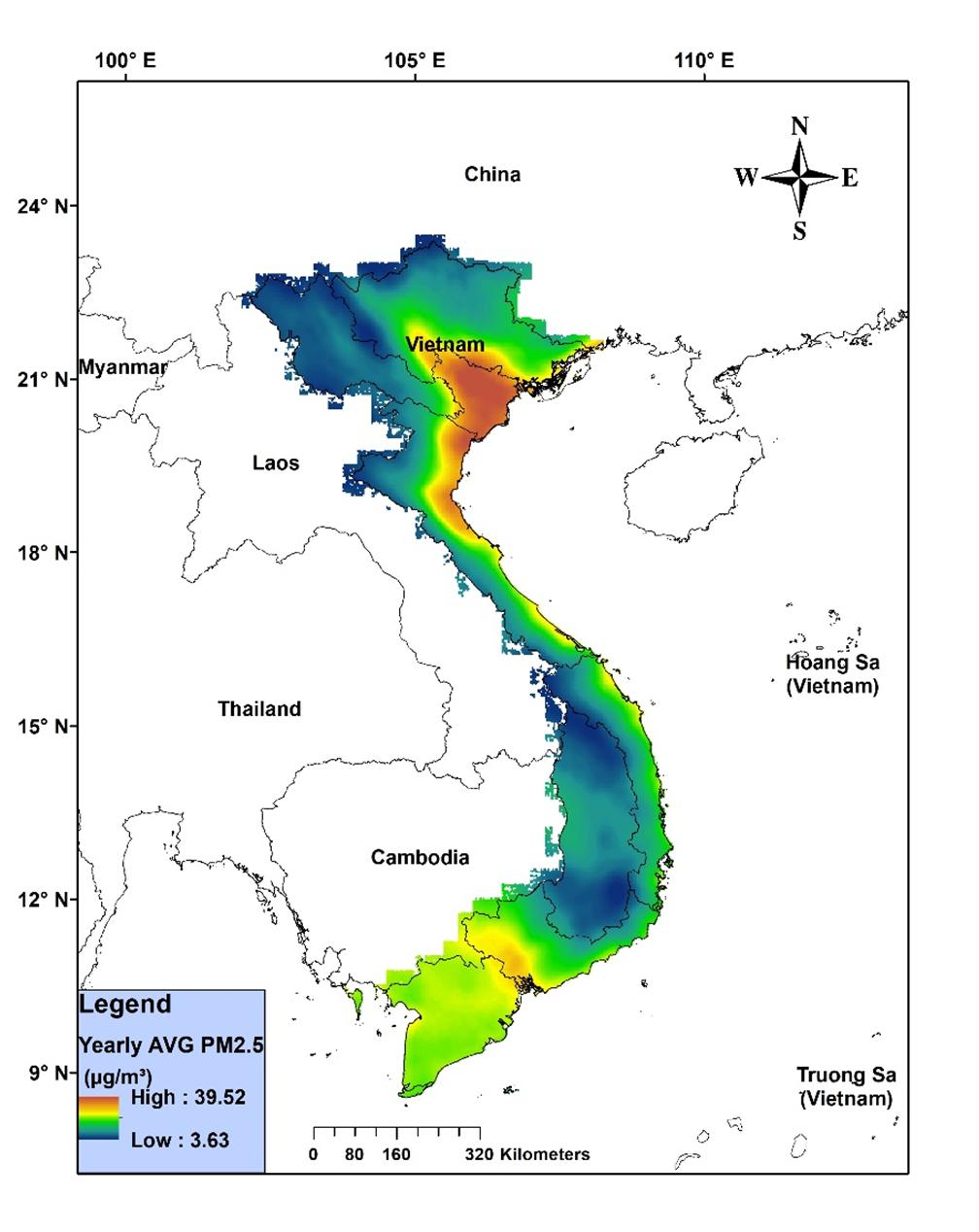 Bản đồ có độ phân giải 3km x 3km | Nguồn: FIMO