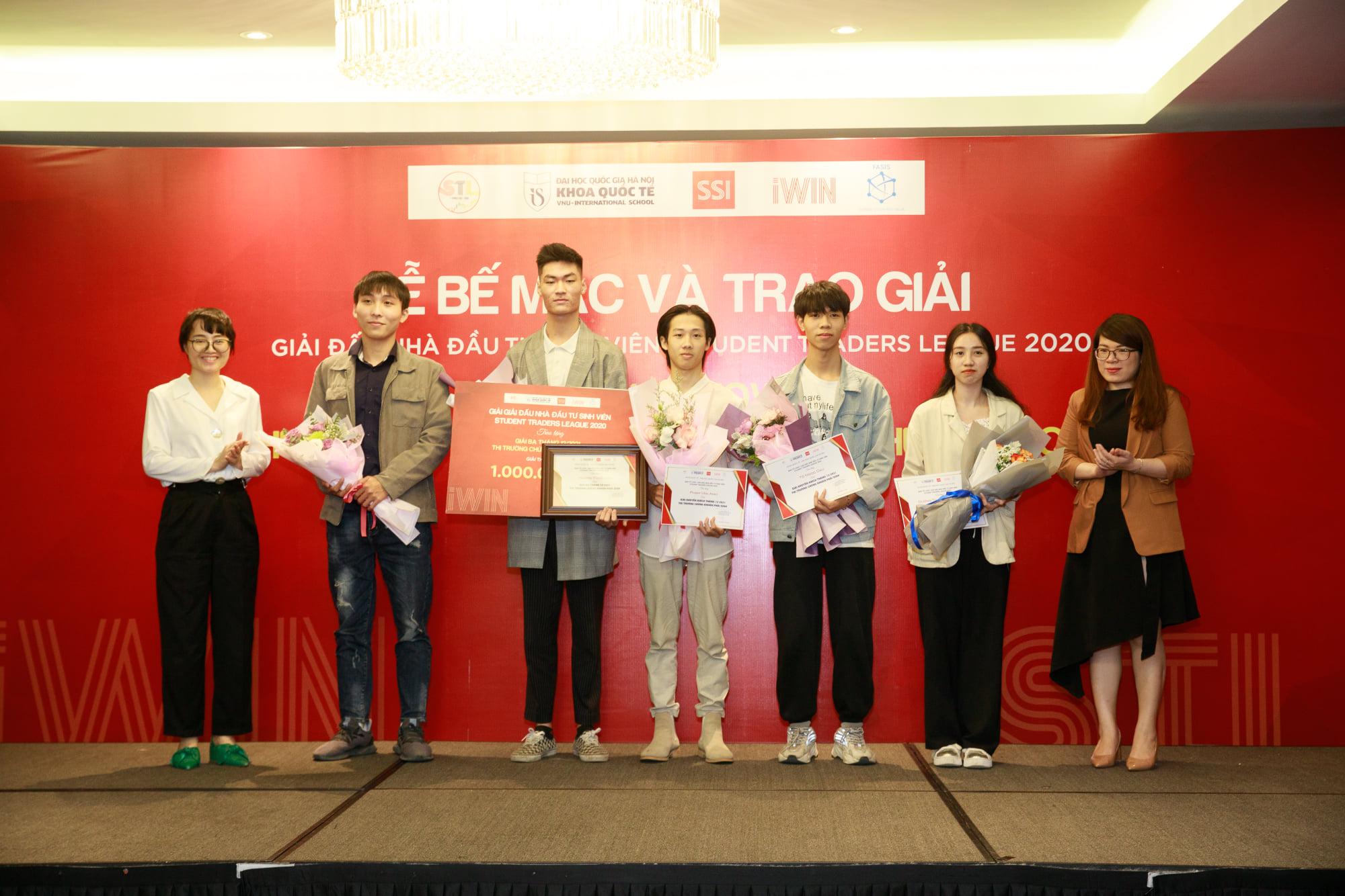 Một số thí sinh đạt giải trong Giải đấu Nhà đầu tư sinh viên 2020 | Ảnh: BTC