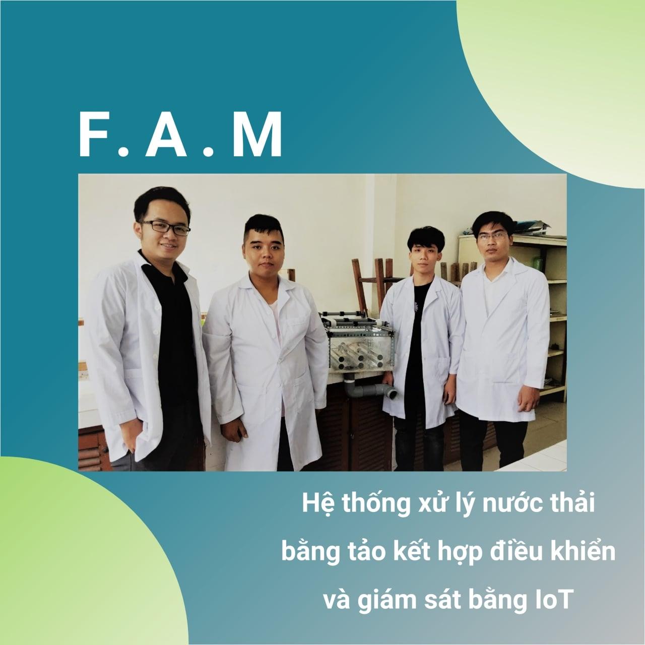 Nhóm F.A.M. - Hệ thống xử lý nước thải bằng tảo kết hợp điều khiển và giám sát bằng IoT