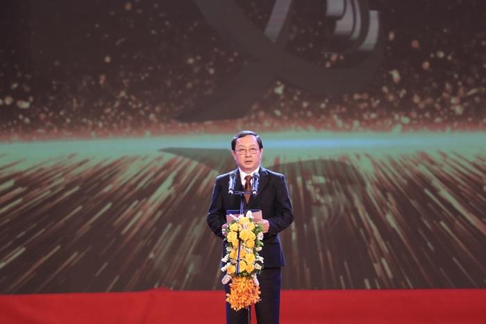 Bộ trưởng Bộ KH&CN Huỳnh Thành Đạt phát biểu tại buổi lễ. Ảnh: BTC