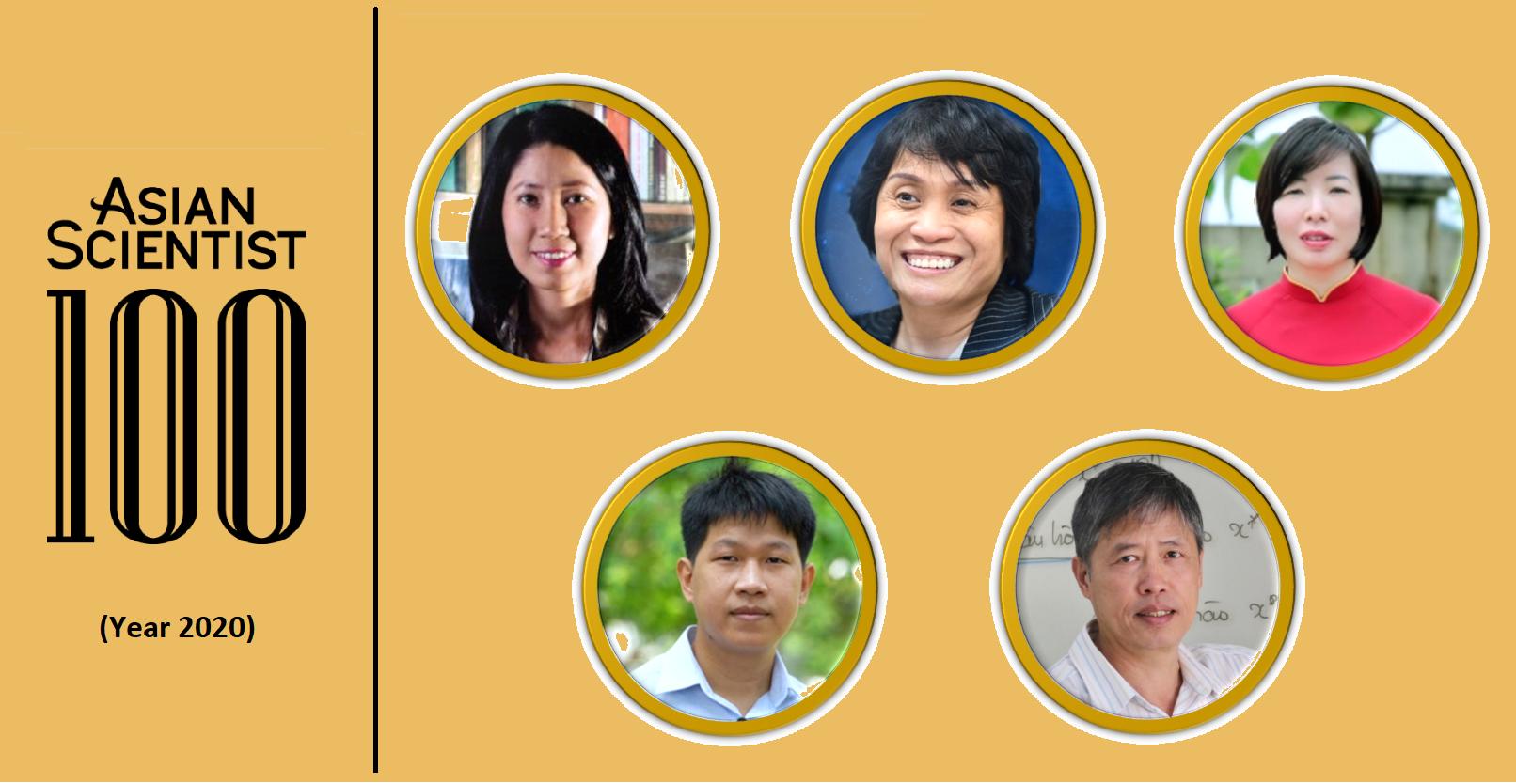 Các nhà khoa học Việt Nam được vinh danh trong danh sách  Asian Scientist 100 năm 2020   Ảnh: KHPT