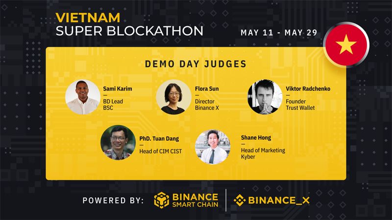 Ban giám khảo của cuộc thi Vietnam Super Blockathon.