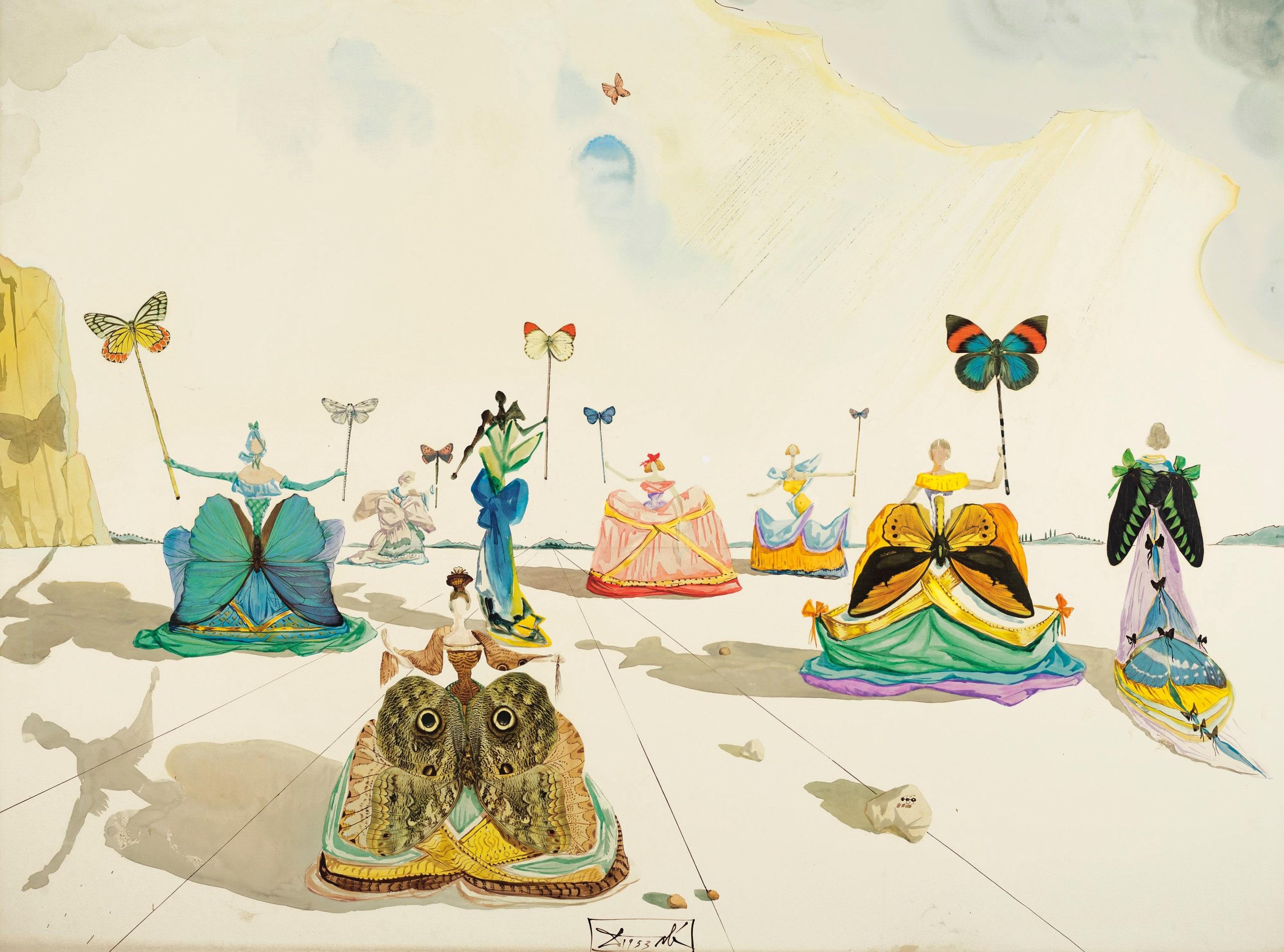 Tác phẩm Femmes aux Papillons của họa sỹ Salvador Dalí. Ảnh: Courtesy of Christie's Images Ltd. 2019