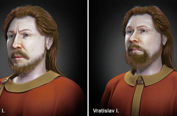 Tái cấu trúc 3D gương mặt hai công tước Czech thời Trung cổ