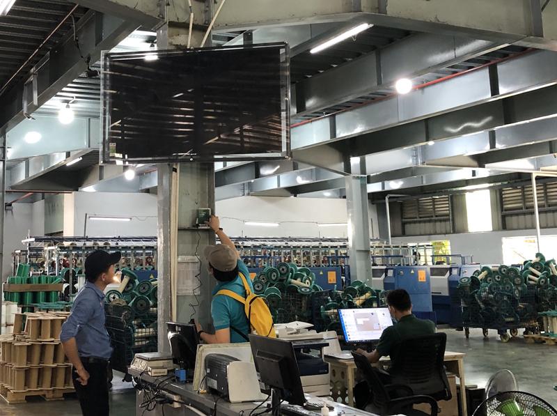 Hình ảnh lắp đặt thiết bị của tMonitor trong nhà máy. Nguồn: NVCC