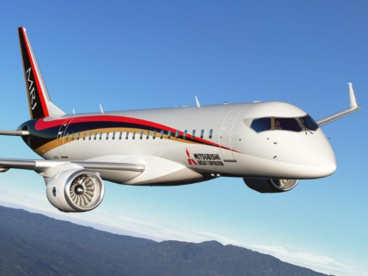 Chiếc máy bay phản lực chở khách MRJ của tập đoàn Mitsubishi. Ảnh: Mitsubishi Aircraft Corporation.