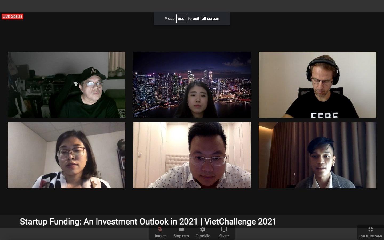 Các diễn giả tham gia lễ khởi động cuộc thi VietChallenge 2021 | Ảnh chụp màn hình