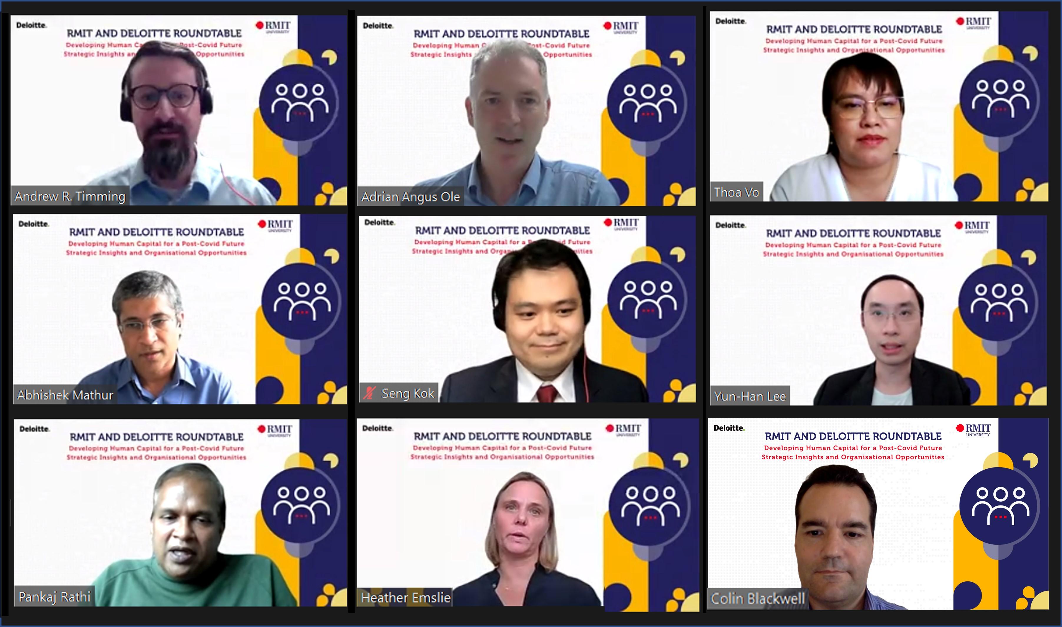 Các chuyên gia từ RMIT, Deloitte, Google, VNG và EnableCode đã tụ hội cùng thảo luận về việc phát triển nguồn nhân lực cho tương lai hậu COVID-19.   Ảnh: BTC
