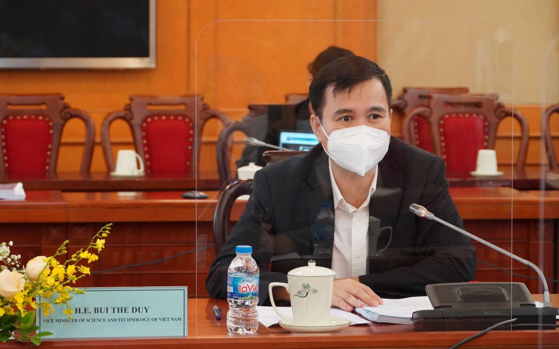 Thứ trưởng Bộ KH&CN Bùi Thế Duy phát biểu trong hội thảo. Nguồn: VKIST
