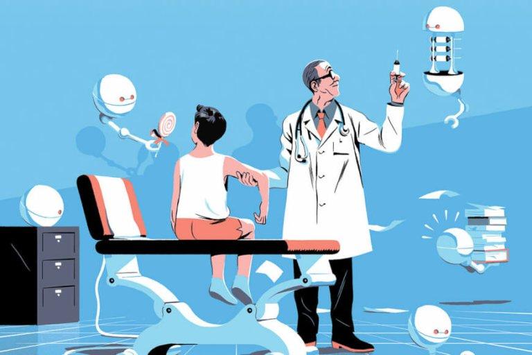 A.I. hỗ trợ các nhân viên y tế trong chăm sóc sức khỏe | Ảnh: TMF
