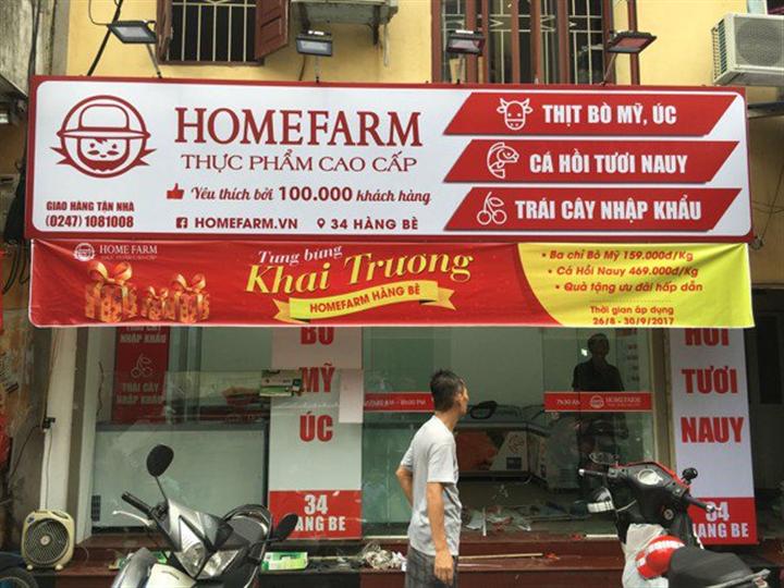Chuỗi cửa hàng Homefarm. Nguồn: HF