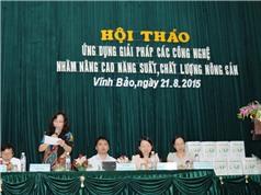 Huyện Vĩnh Bảo: Ứng dụng các giải pháp công nghệ nhằm nâng cao NSCL