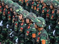 Quân đội, cảnh sát diễu binh hùng tráng ở Ba Đình