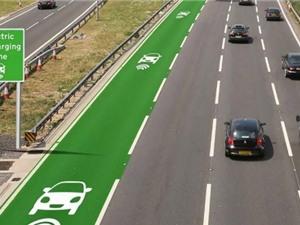 Độc đáo: Đường tự sạc điện cho ô tô
