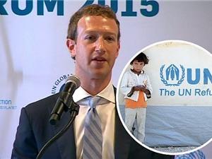 """""""Cha đẻ"""" Facebook hứa kéo Internet cho người tị nạn"""