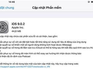 Apple tung bản iOS 9.0.2 vá lỗi màn hình khóa