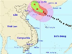 Bão số 4 trên Biển Đông đang có sức gió 130km/h