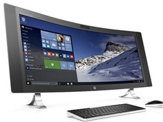 """Cận cảnh máy tính All-in-one màn hình cong """"khổng lồ"""" của HP"""
