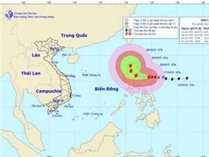Cập nhật hướng đi của bão Koppu giật trên cấp 17