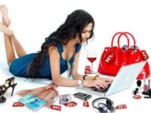 Phụ nữ mua sắm online để... giết thời gian
