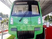 Cận cảnh đoàn tàu mẫu tuyến đường trên cao Cát Linh – Hà Đông