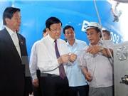 Chủ tịch nước dự lễ giao nhận công nghệ khai thác cá ngừ của Nhật tại Bình Định