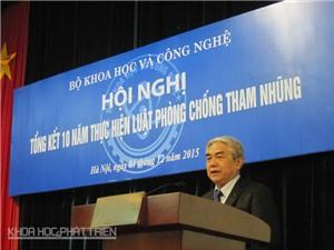 Bộ KH&CN: Công khai, minh bạch để chống tham nhũng