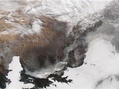 Thảm họa ô nhiễm không khí Trung Quốc qua ảnh vệ tinh