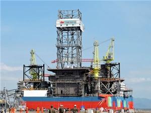 Đưa giàn khoan 05 khai thác dầu khí ngoài khơi Biển Đông