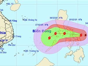Bão Melor sức gió mạnh nhất 185 km/h hướng vào biển Đông