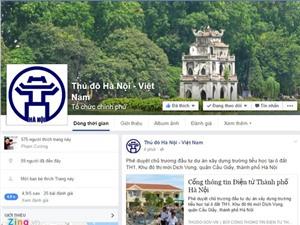 UBND TP Hà Nội kết nối với người dân qua Facebook