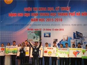 Học sinh trung học Hà Nội có 82 đề tài dự thi nghiên cứu khoa học kỹ thuật