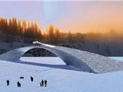 Cầu băng dài nhất thế giới có thể chịu trong tải 2 tấn