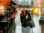 Thành phố trong mưa đẹp như tranh sơn dầu