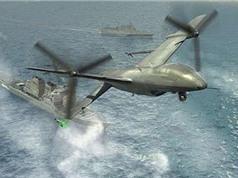 Mỹ chế tạo thành công máy bay không người lái hạ cánh bằng đuôi
