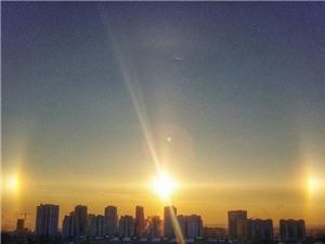 Giật mình 3 mặt trời mọc cùng lúc ở nước Nga