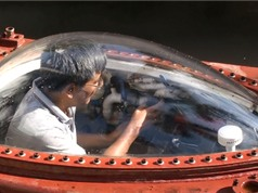 Tàu ngầm Hoàng Sa thay bộ điều khiển mới trước khi thử nghiệm trên biển