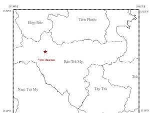 Quảng Nam: Động đất kèm tiếng nổ lớn ở Bắc Trà My