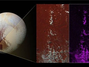 Phát hiện dãy núi tuyết Cthulhu Regio trên sao Diêm Vương
