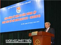 """Bộ trưởng Nguyễn Quân: """"Tuổi trẻ cần chia sẻ trách nhiệm phát triển khoa học công nghệ"""""""
